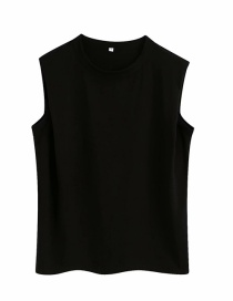 Fashion Black Sleeveless T-shirt