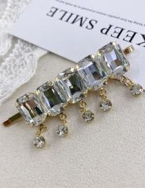 Fashion Golden Alloy Crystal Tassel Crystal Hairpin