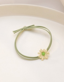 Fashion Beige Flower (double Layer) Daisy Spray Paint Knotted High Elastic Hair Rope