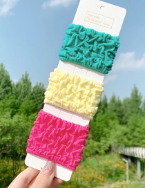 Fashion Color Mixing High-strength Towel Ring Wide Side Contrast Color Hair Rope Set
