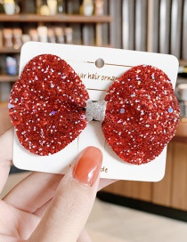 Fashion Type B-red Sequin Butterfly Combined With Blonde Clip