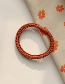 Fashion Orange High Elastic Seamless Durable Leather Hair Rope