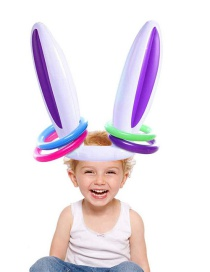 Fashion White Pvc Inflatable Rabbit Ear Ferrule