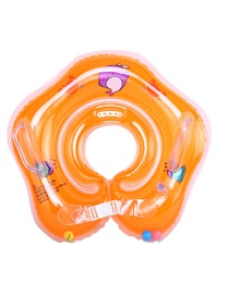 Fashion Orange Baby Collar Inflatable Infant Swimming Neck Ring With Double Airbags