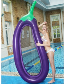 Fashion Purple Eggplant Inflatable Swimming Ring