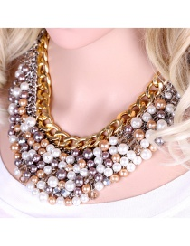 Fashion Color Alloy Pearl Necklace