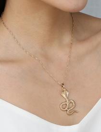 Fashion Gold Color Cobra Pendant Necklace