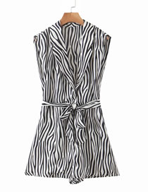 Fashion Zebra Pattern Zebra Print Jumpsuit