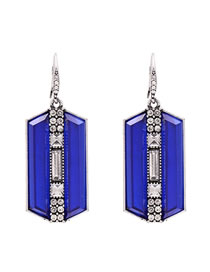 Fashion Blue Acrylic Pendant Earrings