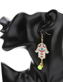 Fashion Palm Palm Mizhu Demon Eye Earrings