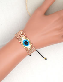 Fashion Blue Mi Zhu Woven Lucky Eye Bracelet