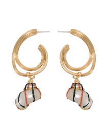 Fashion Conch Alloy Conch Shell Earrings
