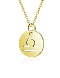 Fashion Libra-bead Chain 38+5 Hollow Twelve Constellation 316l Titanium Steel Necklace