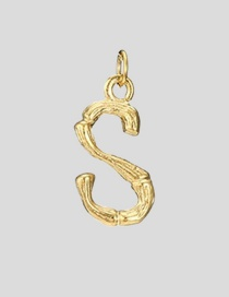 Fashion S-38+5 Bead Chain 26 Letters 316l Titanium Steel Gold Plated Necklace