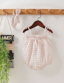 Fashion Apricot Baby Bag Fart Suspenders Clothes