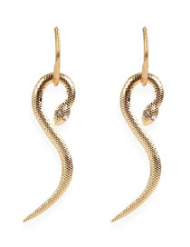 Fashion Golden Alloy Electroplated Serpentine Earrings