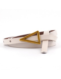 Fashion Beige Triangle Knotted Sugar Thin Belt