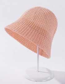 Fashion Pink Light Plate Knitted Solid Color Sunscreen Fisherman Hat