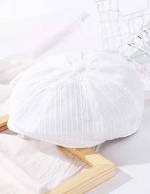 Fashion Milky White Twist Stitching Solid Color Beret