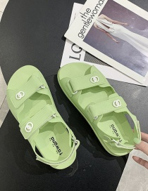 Fashion Light Green Velcro Wet Platform Sandals