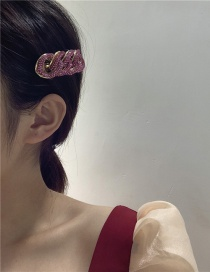 Fashion Red Twist And Diamond Alloy Hollow Hairpin