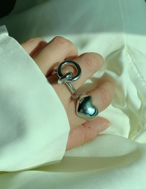 Fashion Love Section Love Round Embossed Alloy Broad-band Ring