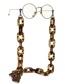 Fashion Leopard Print Resin Acrylic Leopard Anti-skid Anti-lost Glasses Chain