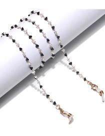 Fashion Black And White Handmade Triangle Crystal Alloy Eye Chain
