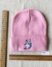 Fashion Pink Knitted Panda Hat