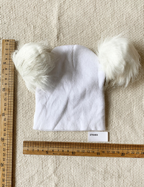 Fashion White Wool Ball Knitted Hat