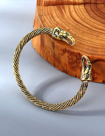 Fashion Kc Gold Eagle Mouth Relief Spiral Bracelet