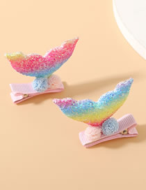 Fashion Color Mixing Small Fish Tail Sequins Hair Ball Hairpin Set