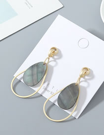 Fashion Golden Drop-shaped Gold-plated Hollow S925 Silver Pin Earrings