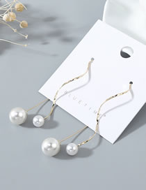 Fashion Pearl Pearl Curved Earrings
