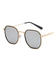 Fashion Gold Black Frame Mercury Small Square Anti-blue Light Flat Frame Sunglasses