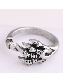Fashion Silver Magic Claw Open Ring