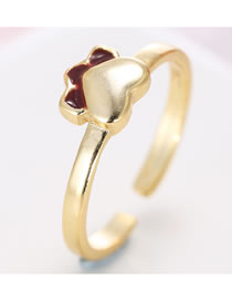 Fashion Golden Love Drop Oil Alloy Foot Ring
