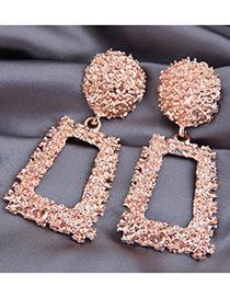 Fashion Golden Alloy Geometric Bump Earrings