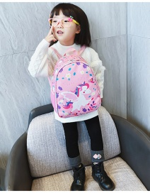 Fashion Pink Unicorn Printed Childrens Shoulder Bag