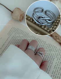 Fashion Love Distressed Wide Line Love Open Ring