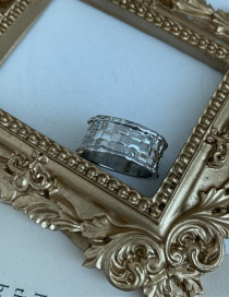 Fashion Textured Section (diameter 2 Cm) Wide Version Line Alloy Alloy Ring