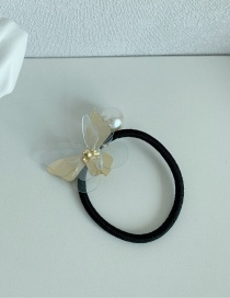 Fashion Transparent Butterfly Hair Band Three-dimensional Butterfly Resin Alloy Hairpin Hair Rope