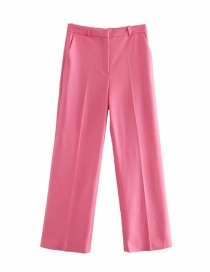Fashion Pink Straight Ankle Loose Fit Trousers