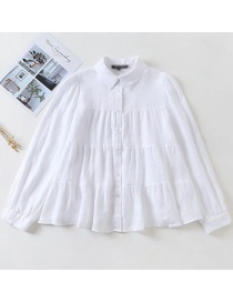 Fashion White Stitched Linen Shirt