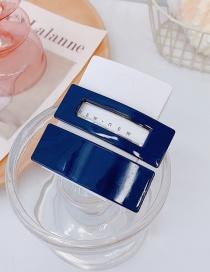 Fashion Navy Blue Acrylic Geometric Hollow Alloy Hair Clip Set