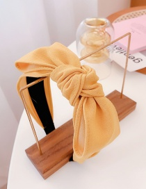 Fashion Yellow Hand-knotted Bowknot Wide-brimmed Headband