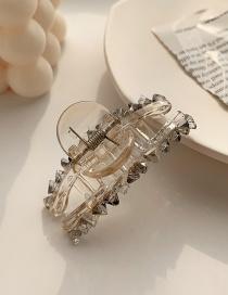 Fashion Transparent Crystal Resin Crystal Geometric Alloy Grip