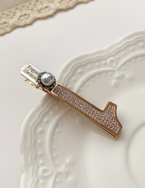 Fashion Hairpin Square Alloy Hairpin With Bow And Diamond Flowers