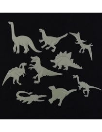 Fashion 8-11cm 9pcs/bag Dinosaur Stereo Fluorescent Wall Sticker