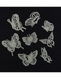 Fashion 4.5-6.5cm Hollow Butterfly Luminous Bedroom Wall Sticker